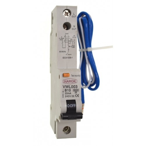 VWL003 Series RCBO's 1 Pole - 16A