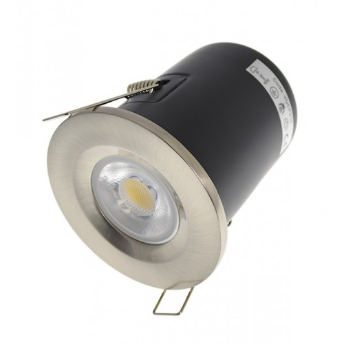 Satin Nickel Fire Rated Downlight - Fixed GU10