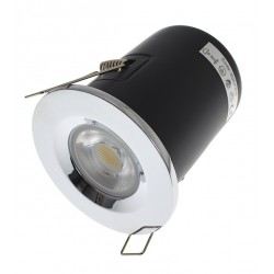 Polished Chrome Fire Rated Downlight - Fixed GU10