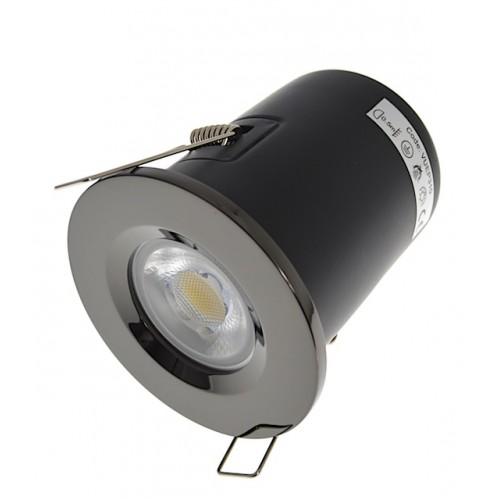 Black Nickel Fire Rated Downlight - Fixed GU10
