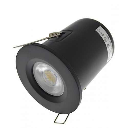 Matt Black Fire Rated Downlight - Fixed GU10