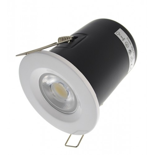 Gloss White Fire Rated Downlight - Fixed GU10
