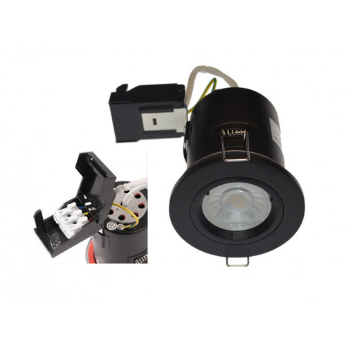 Matt Black Fixed Fire Rated GU10 Downlight