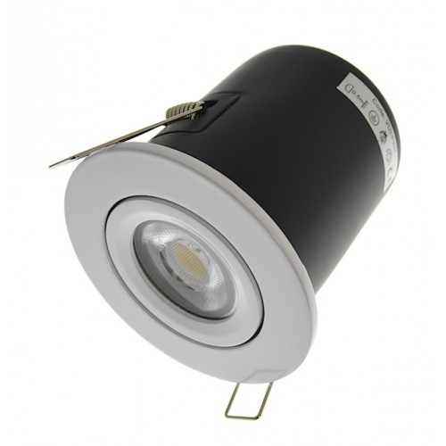 Gloss White Fire Rated Downlight - Tilt GU10