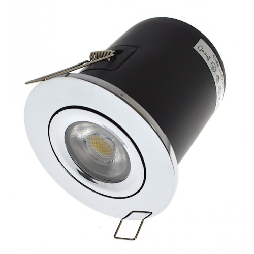 Polished Chrome Fire Rated Downlight - Tilt GU10