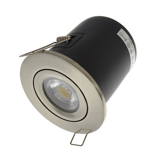 Satin Nickel Fire Rated Downlight - Tilt GU10