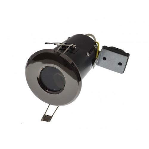 240v GU10 Diecast Shower Light - IP65 - Black Nickel