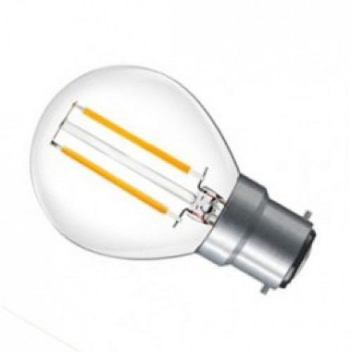 4w LED Filament Golfball Lamp - B22 Cool White