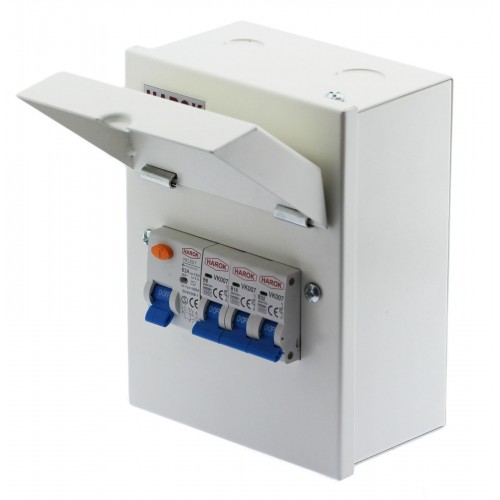 5 Way Mini Garage Unit Consumer Unit Amendment 3 63a RCD & 6a,16a &32a MCB Fitted