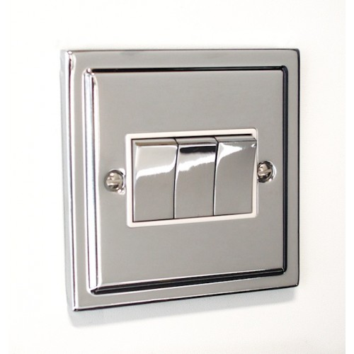 Regency - 3 Gang Light Switch - R03PCW