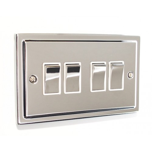 Regency - 4 Gang Light Switch - R04PCW