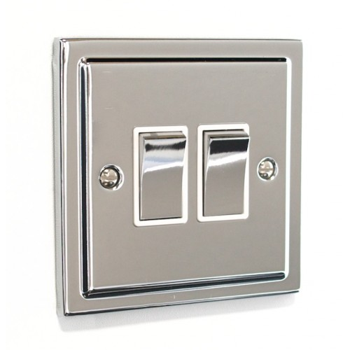 Regency - 2 Gang Light Switch - R02PCW