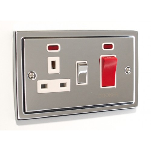 Regency - 45a Double Cooker Switch with Socket - R41PCW