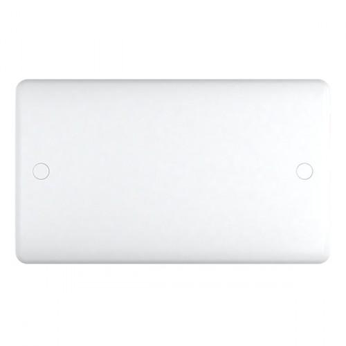 White Plastic Double Blank Plate - Studio Range