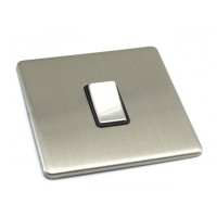 Brushed Chrome - Black Insert