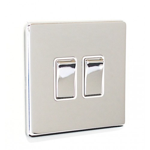 Signature Screwless - 2 Gang Light Switch - SG02PCW