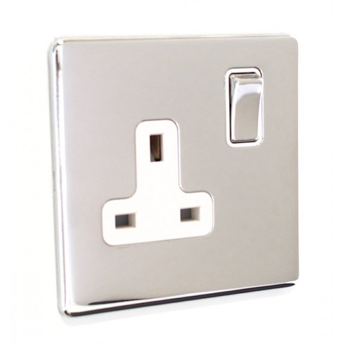 Signature Screwless - 1 Gang Plug Socket - SG06PCW
