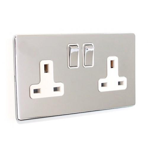 Signature Screwless - 2 Gang Plug Socket - SG07PCW