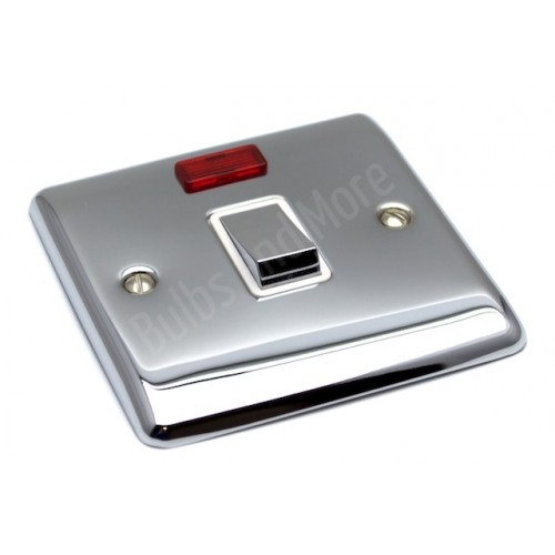 Polished Chrome - 20a DP Switch - D37PCW