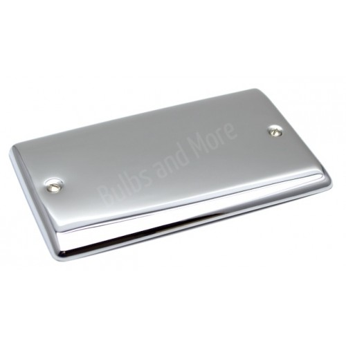 Polished Chrome - 2 Gang Blank Plate - D50PCW