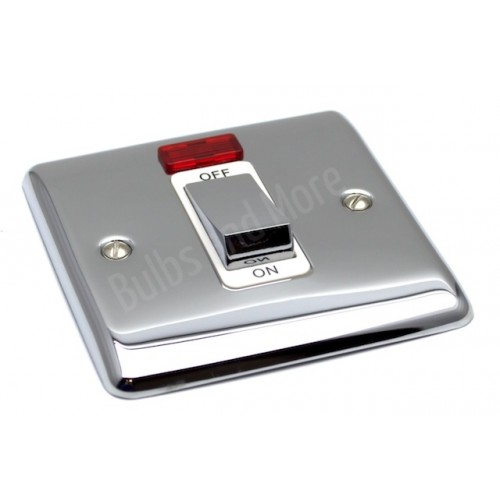 Polished Chrome - 45a Single Cooker Switch - D52PCW