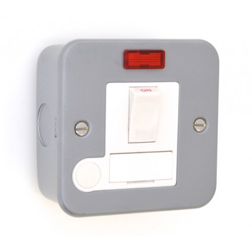 Metal Clad 13A Switched Fuse Spur with Neon - MC39