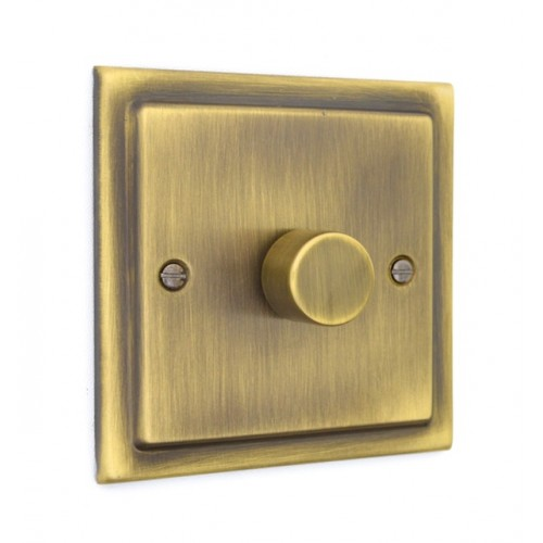 1 Gang 250w Dimmer Switch - Victorian Antique Brass