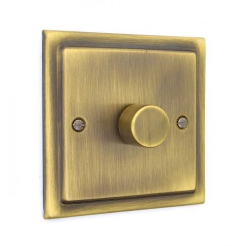 1 Gang 400w Dimmer Switch - Victorian Antique Brass