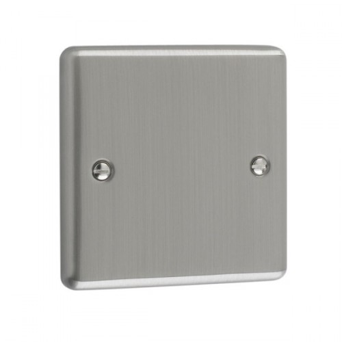 Brushed Chrome - 1 Gang Blank Plate- W49BC