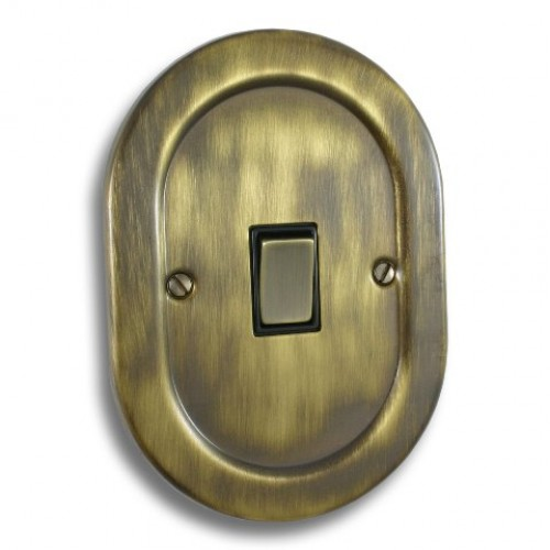 1 Gang Light Switch - Empire Round Antique Brass