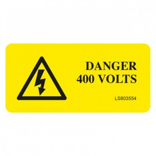 Danger 400 Volts  Safety Label - Pack of 10