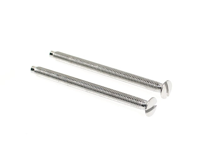 50mm polished chrome electrical screws x 2