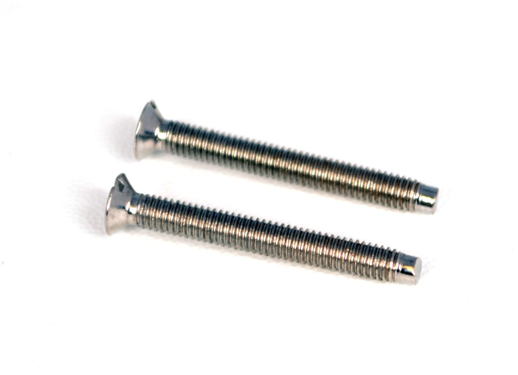 Polished Chrome Electrical Screws 25mm 4pk Polished