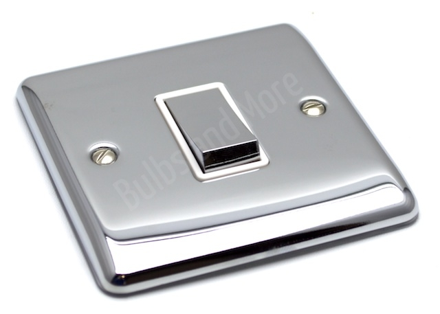 Polished Chrome Electric Plug Sockets And Light Switches