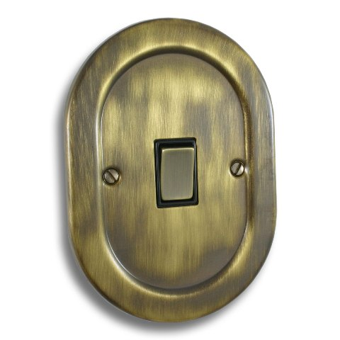 1 Gang Light Switch Empire Round Antique Brass